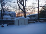 Our back yard at sunrise.